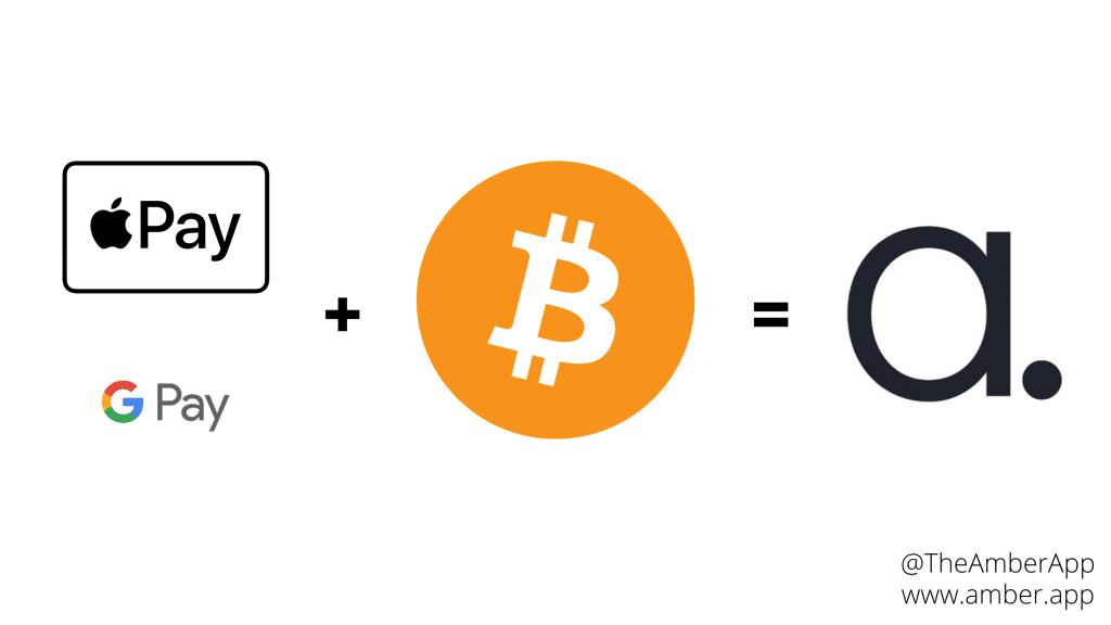 Apple Pay & Google Pay + Bitcoin = Amber